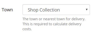 Select 'Shop Collection' if you wish to order online & collect in store.
